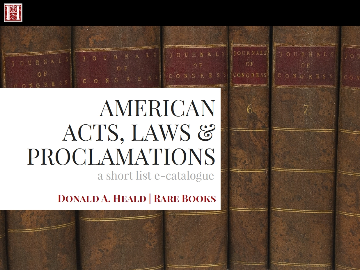 American Acts, Laws & Proclamations