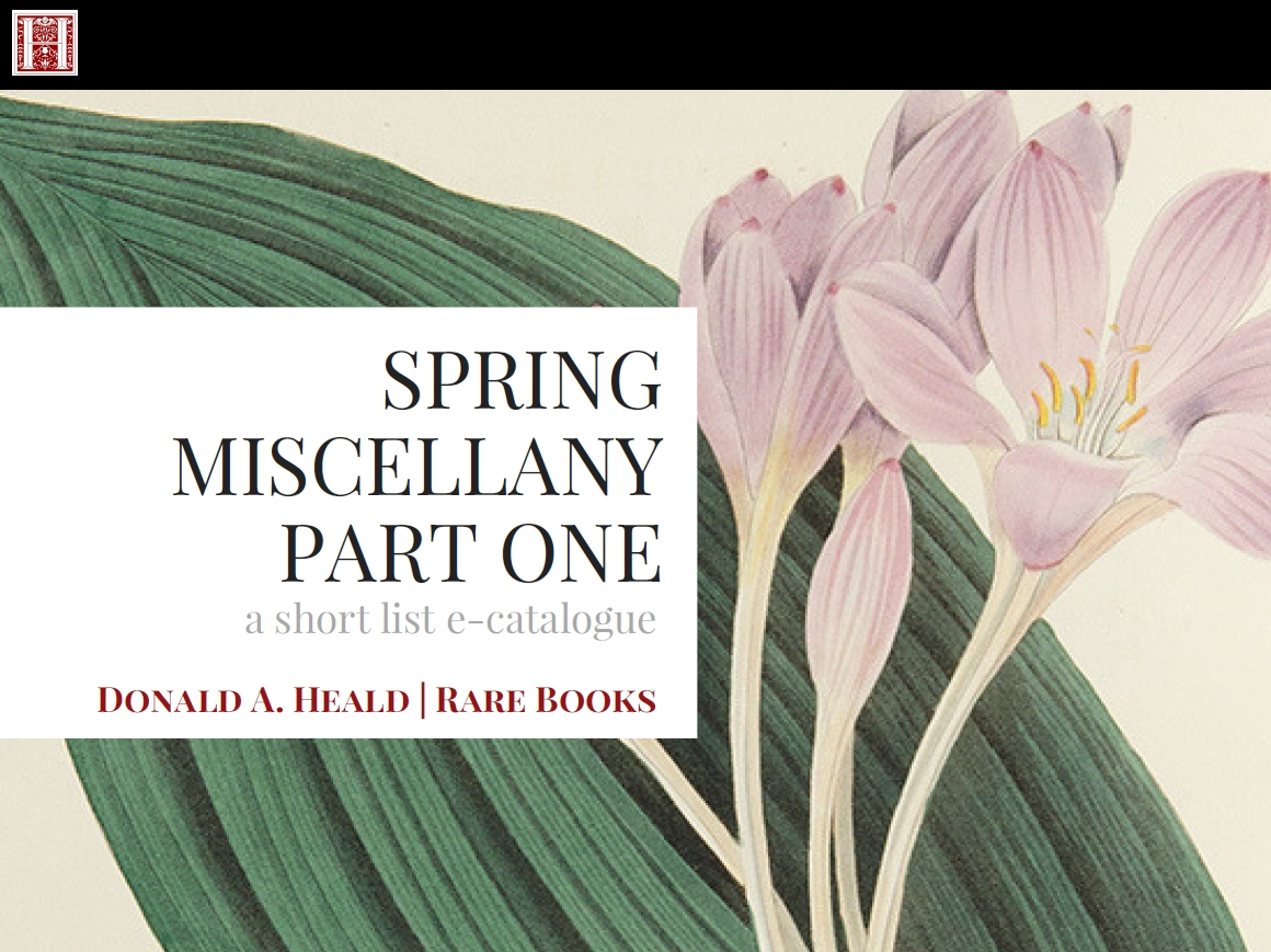 Spring Miscellany, Part One - April 2018