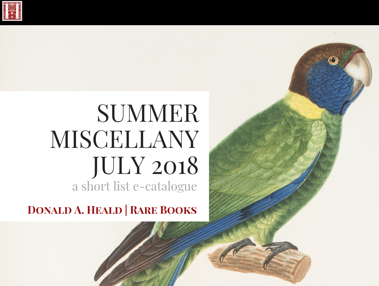 Summer Miscellany - July 2018