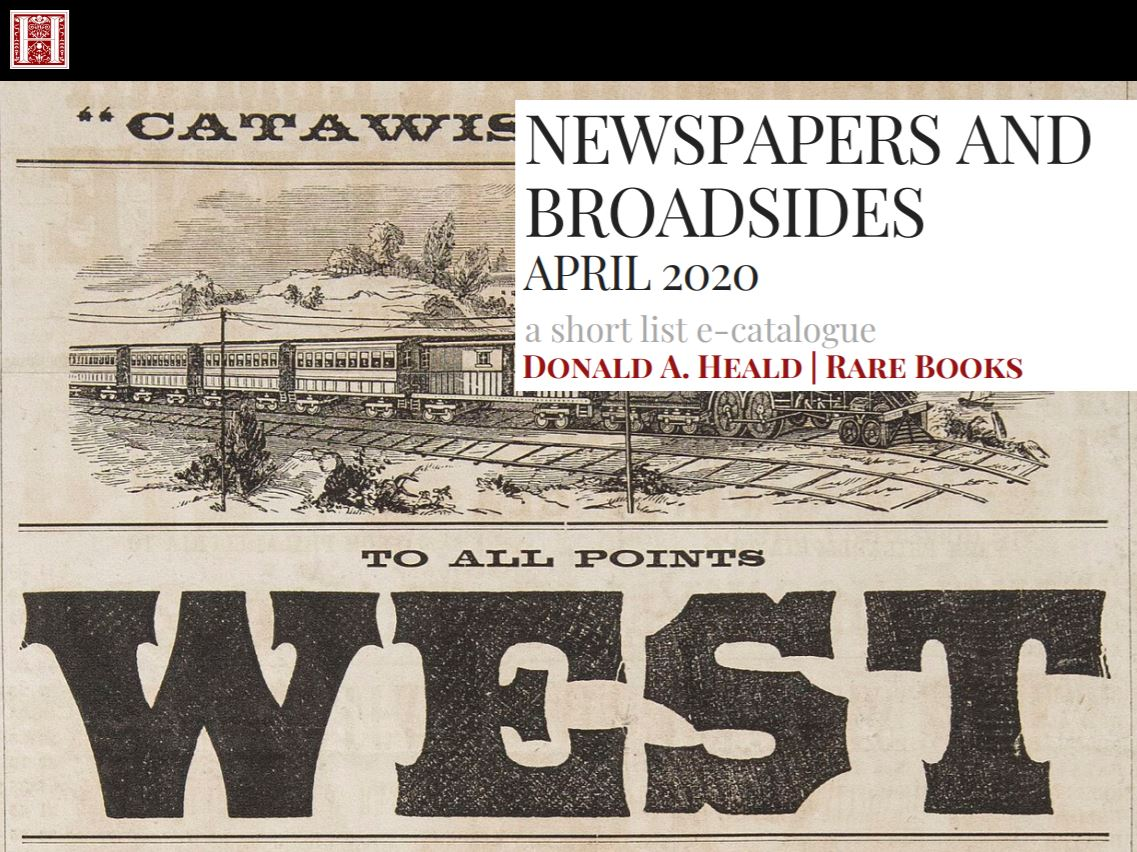 Newspapers and Broadsides April 2020