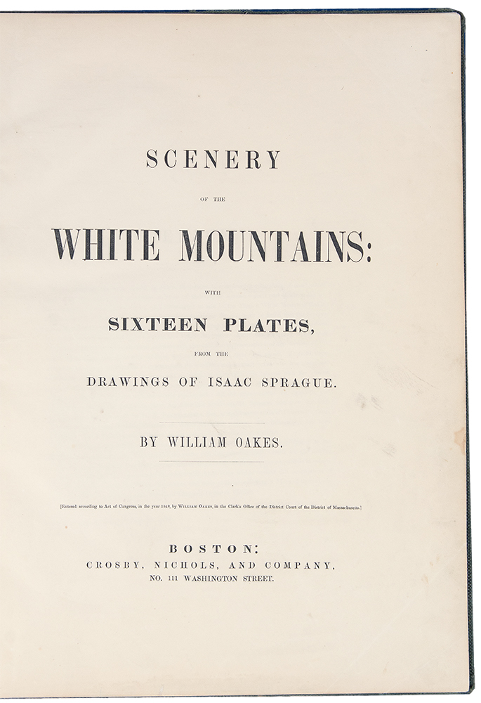 Scenery Of The White Mountains With Sixteen Plates From