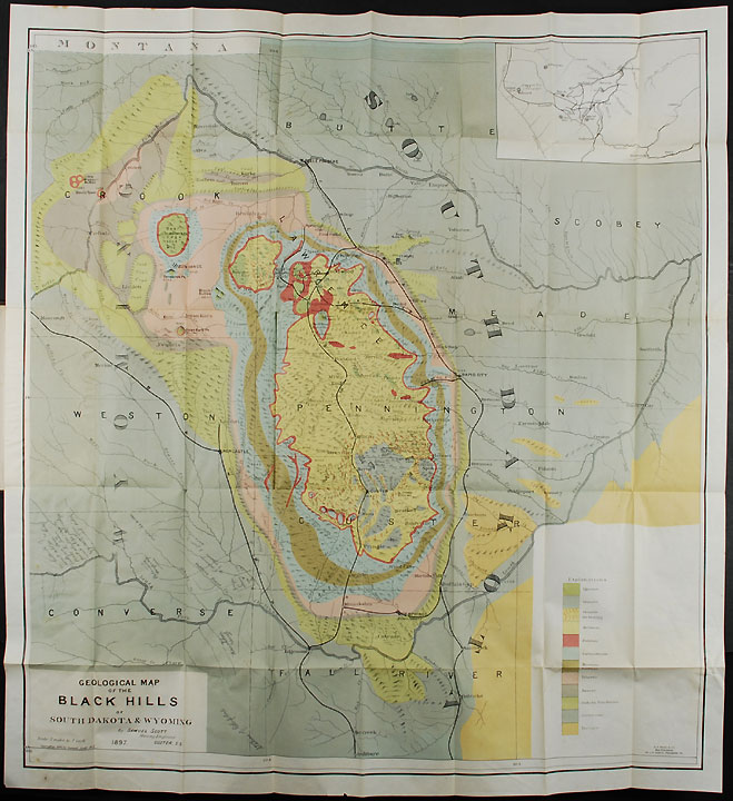 Map Of The Black Hills Of South Dakota And Wyoming With Full - Map of south dakota