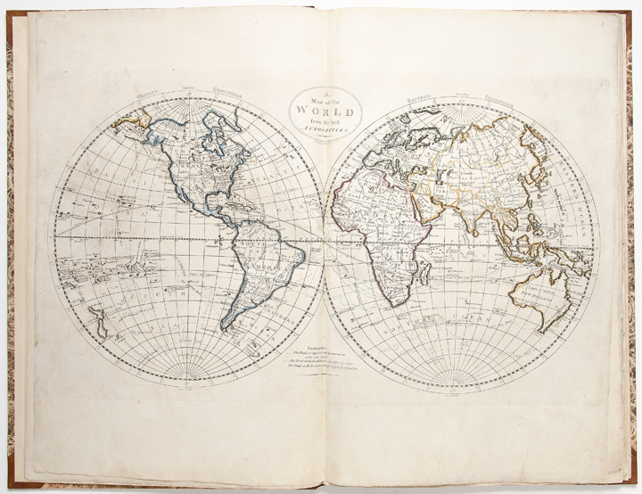 general atlas being a collection of maps of the world and quarters their principal