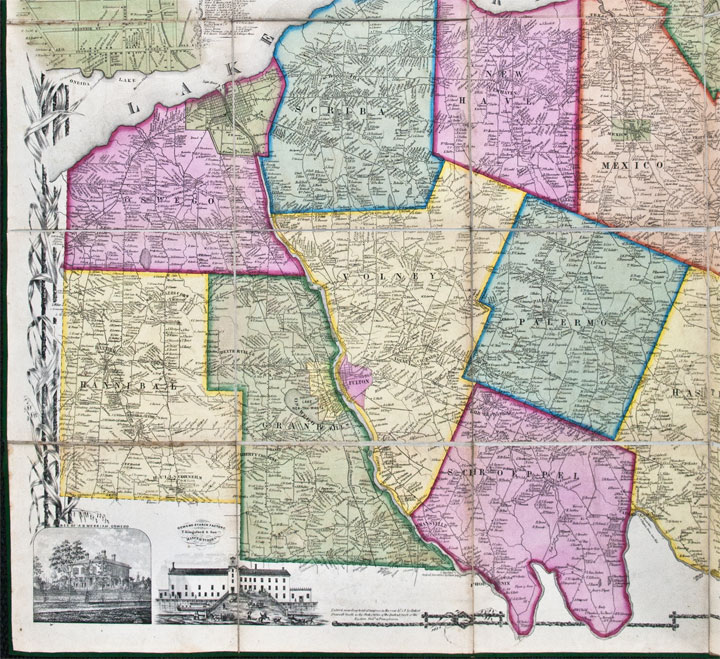 Map Of New York Oswego.Map Of Oswego County New York From Actual Surveys Under The Direction Of Samuel Geil By B J Hunter By B J Hunter On Donald A Heald Rare