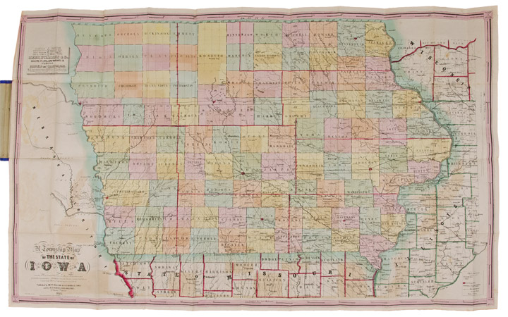 A Township Map of the State of Iowa Compiled from the United States ...
