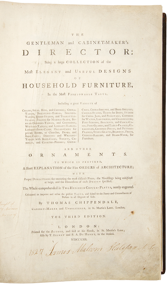 The Gentleman and Cabinet-Maker's Director: being a large ...