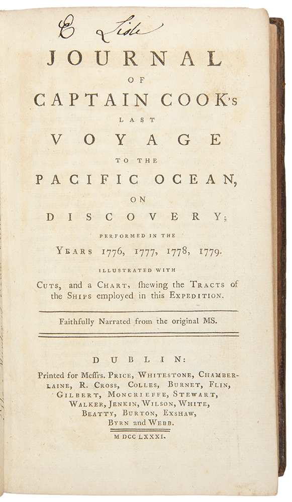 Journal of Captain Cook s last Voyage to the Pacific Ocean on
