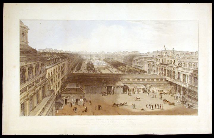 View of the Palais Royal, drawn in Octr. 1827. William DANIELL.