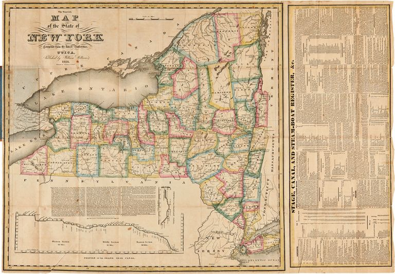 The Tourist's Map of the State of New York Compiled from the Latest Authorities. William WILLIAMS.