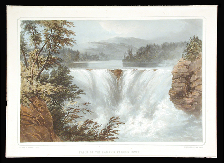 Falls of the Kamanis Taquoih River [Kakabeka Falls, near Thunder Bay, Ontario]. After General Sir Henry James WARRE.