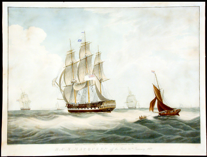 H.C.S. Macqueen off the Start, 26th. January 1832. After William John HUGGINS.