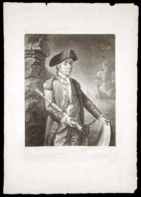 [John Paul Jones, Commander in a Squadron in the Service of The Thirteen United States of America, 1779]. Attributed to Richard BROOKSHAW.