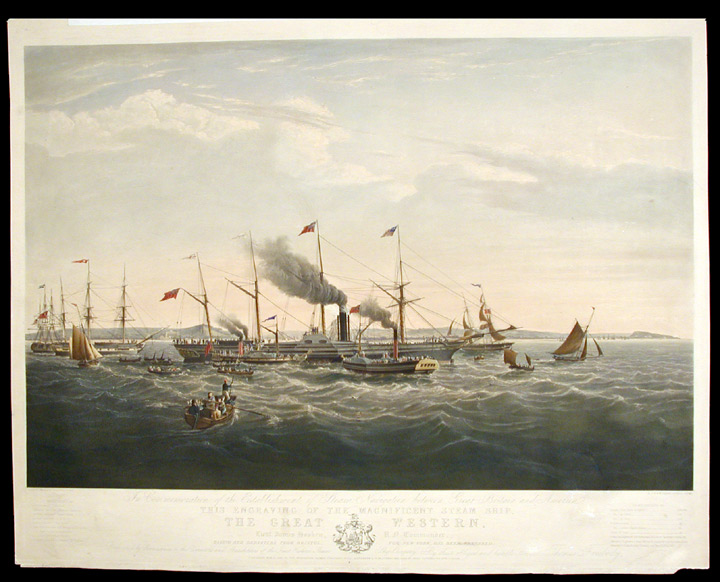 In Commemoration of the Establishment of Steam Navigation between Great Britain and America, the Magnificent Steam Ship the Great Western. Joseph WALTER.