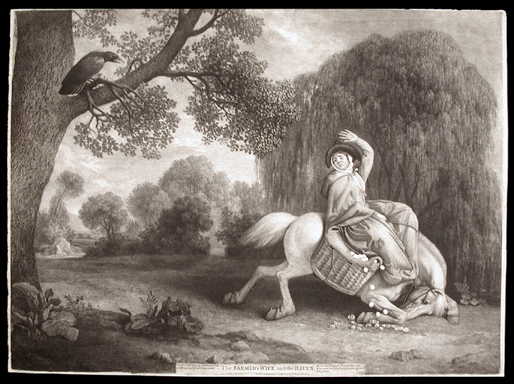 The Farmer's Wife and the Raven. George STUBBS.