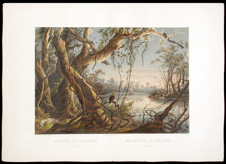 [Mouth of the Fox River (Indiana). Karl BODMER.