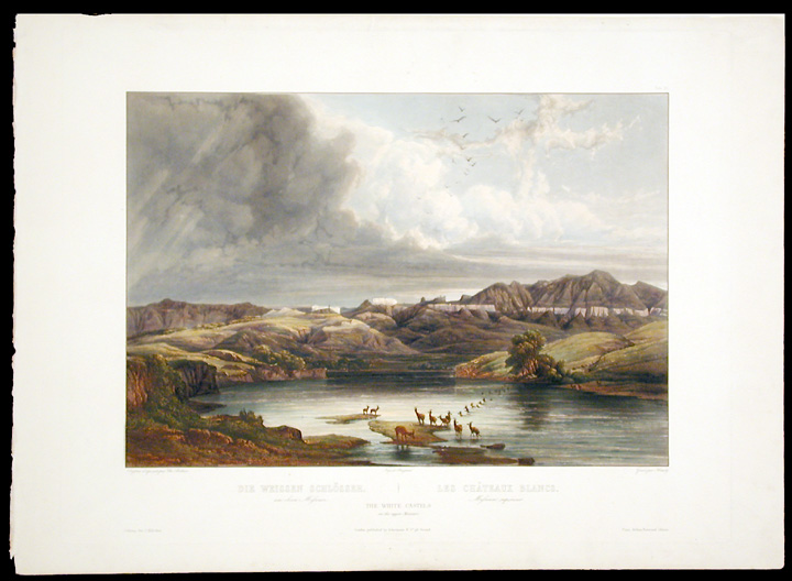 The White Castels on the Upper Missouri. Karl BODMER.