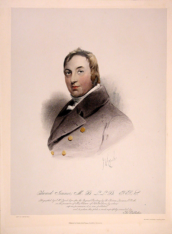 Edward Jenner, M.D. J. H. after Sir Thomas LAWRENCE LYNCH.