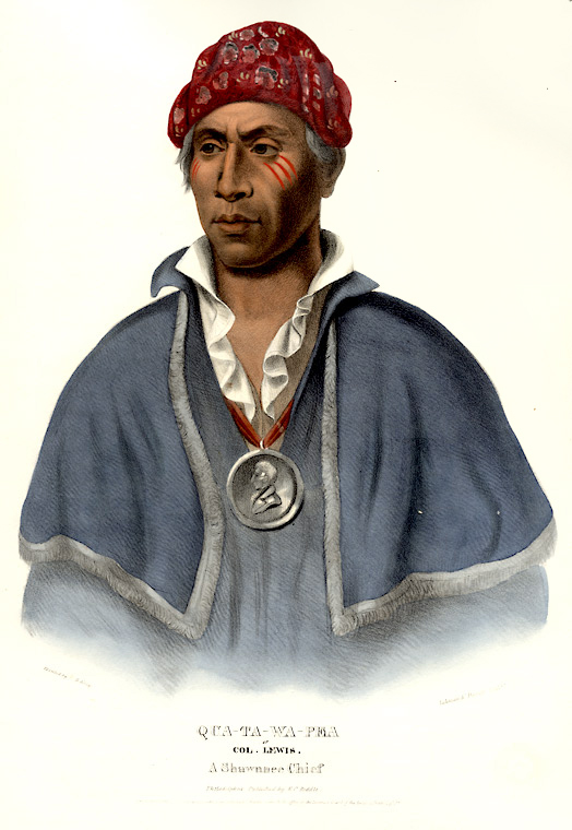 Qua-Ta-Wa-Pea or Col. Lewis. A Shawnnee Chief. Thomas L. MCKENNEY, James HALL.