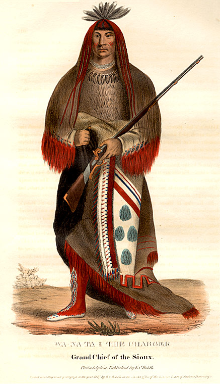 Wa-Na-Ta, The Charger, Grand Chief of the Sioux. Thomas L. MCKENNEY, James HALL.