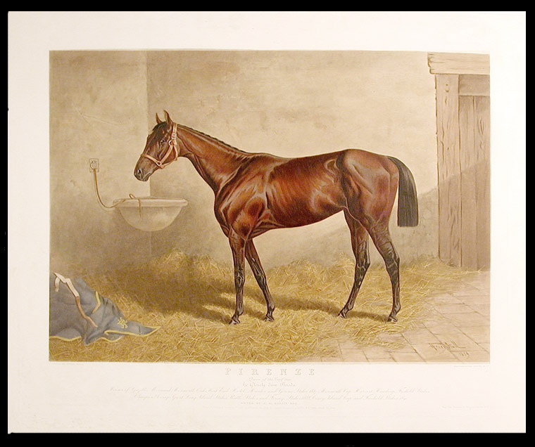 Firenze Queen of the Turf 1890 by Glenelg dam Florida... Owned by J.B. Haggin Esq. Henry STULL.