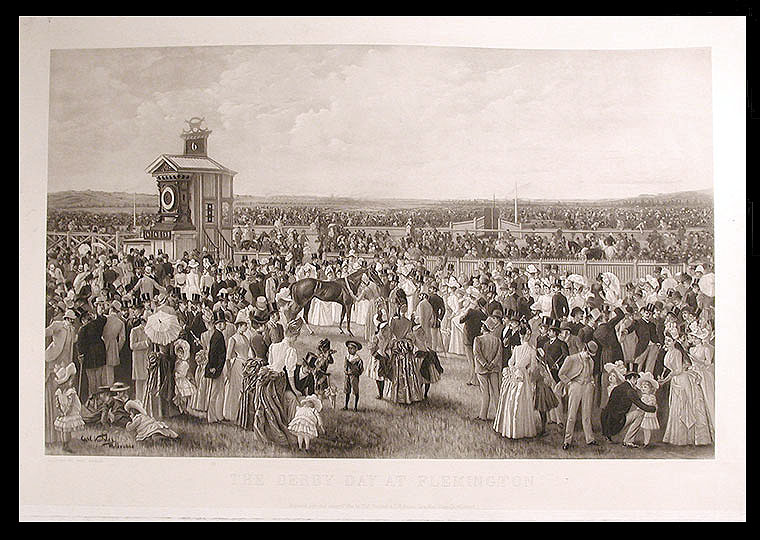 The Derby Day at Flemington. After Carl KAHLER.