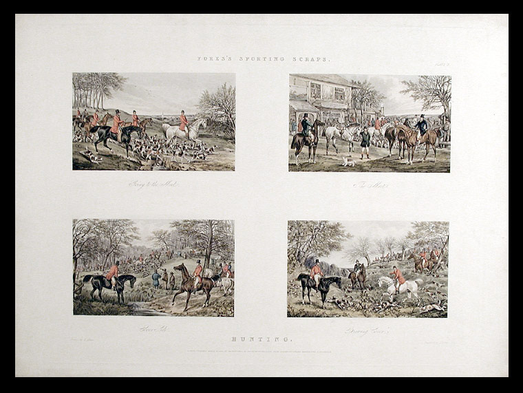 Fores's Sporting Scraps. Plate 2. Hunting. After Henry Thomas ALKEN.