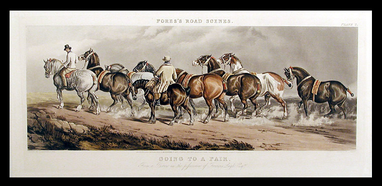 Going to a Fair [Plate I Hunters and hacks]; Going to a Fair [Plate II Cart horses]. After Charles Cooper HENDERSON.