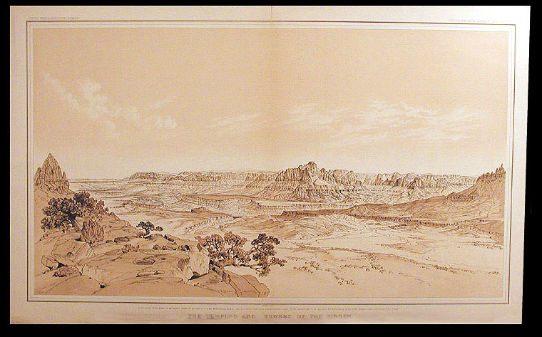 The Temples and Towers of the Virgin [Grand Cañon District Atlas Sheet IV]. After William Henry HOLMES.