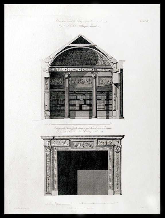 Section of one end of the Library or great Room, at Kenwood... Design of the Chimney for the Library or great Room, at Kenwood. After Robert ADAM.
