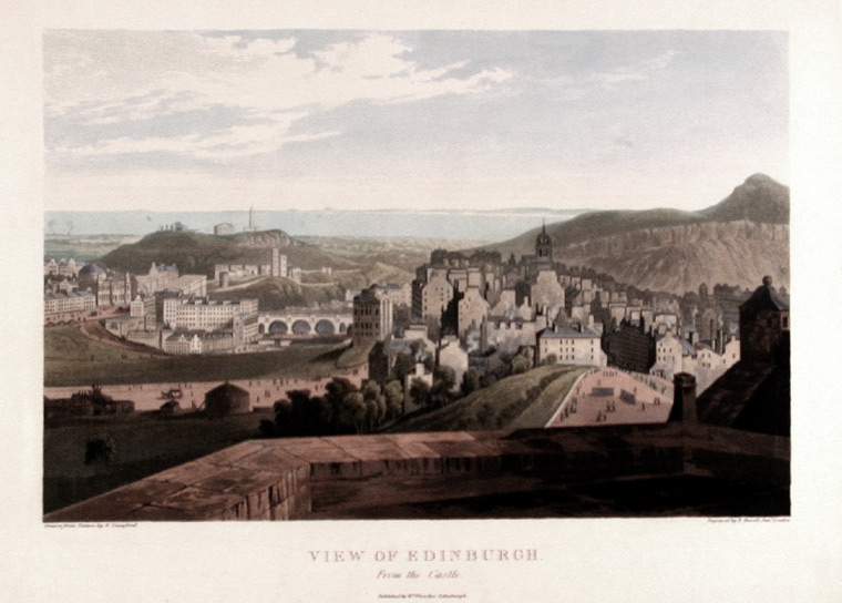View of Edinburgh, From the Castle. After Edmund Thornton CRAWFORD.
