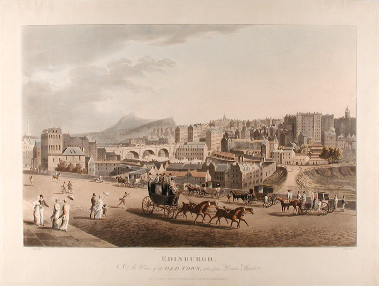 Edinburgh. A View of the Old Town, taken from Princes Street. After A. KAY.
