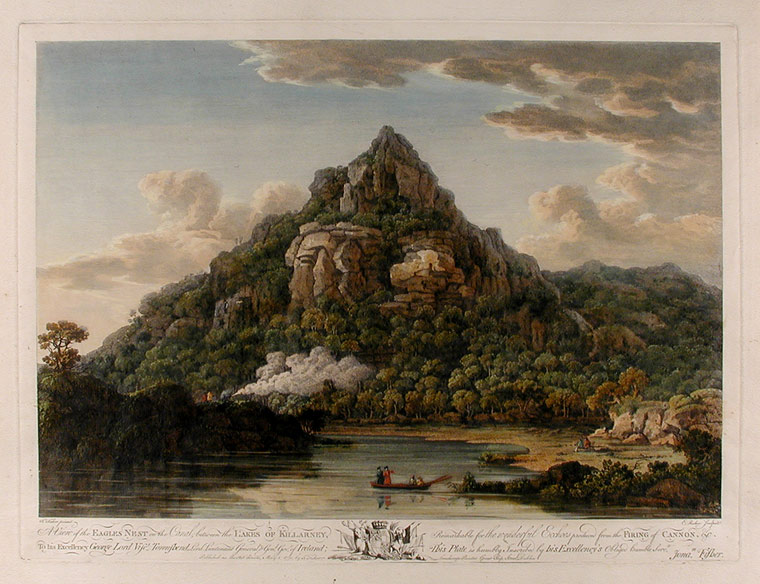 A View of the Eagles Nest on the Canal, between the Lakes of Killarney, Remarkable for the wonderful Echoes produced from the Firing of Cannon, &c. After Johnathan FISHER, d. 1812.