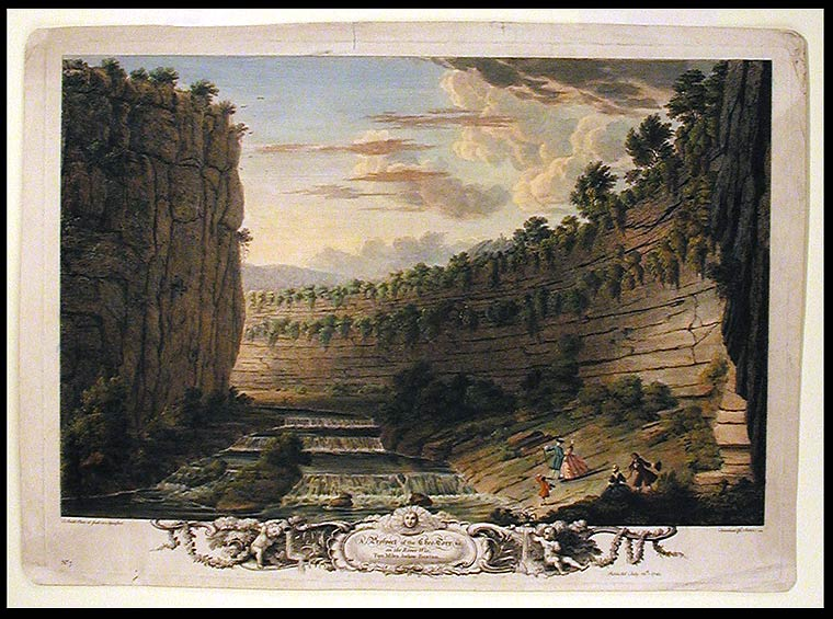 A Prospect of the Chee-Torr &c. on the River Wie, Two Miles below Buxton. After Thomas SMITH of Derby, c. 1720 -1767.