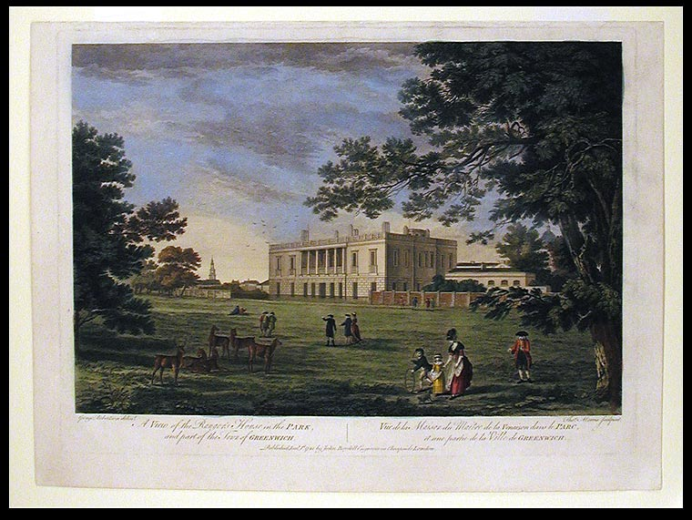 A View of the Ranger's House in the Park, and Part of the Town of Greenwich. After George ROBERTSON, Thomas MORRIS.