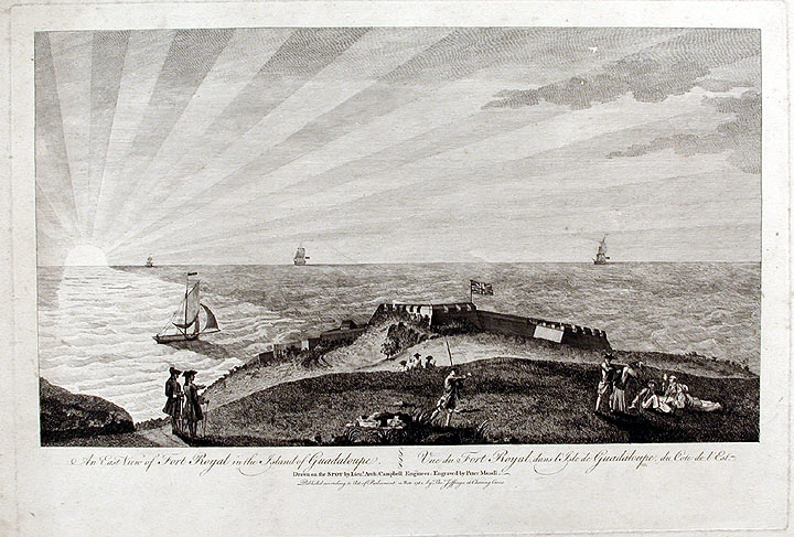 An East View of Fort Royal in the Island of Guadaloupe... Drawn on the Spot by Lieut. Arch. Campbell Engineer. After Lieutenant Archibald CAMPBELL.