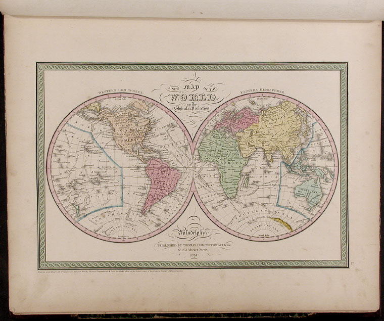A New Universal Atlas Containing Maps of the various Empires, Kingdoms, States and Republics of the World. With a special map of each of the United States, Plans of Cities &c. Samuel Augustus MITCHELL.