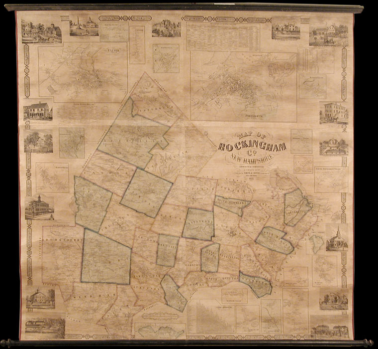 Map of Rockingham Co. New Hampshire from Practical Surveys. J. CHACE.