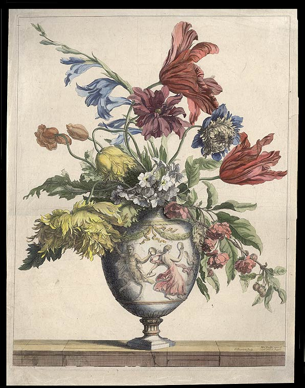 [Still-life of flowers in a vase]. MONNOYER, Jean Baptiste.