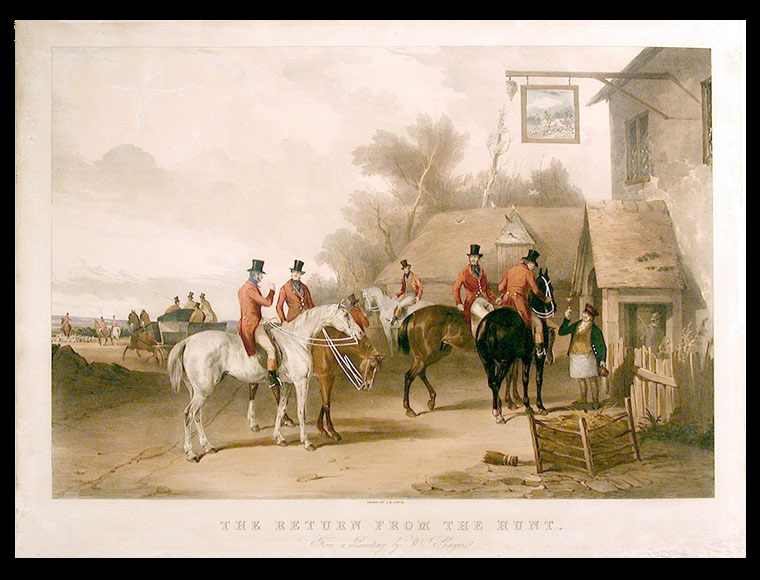 The Meet...; The Return from the Hunt. from a Painting by W.J. Shayer. After William J. SHAYER, 1811-.