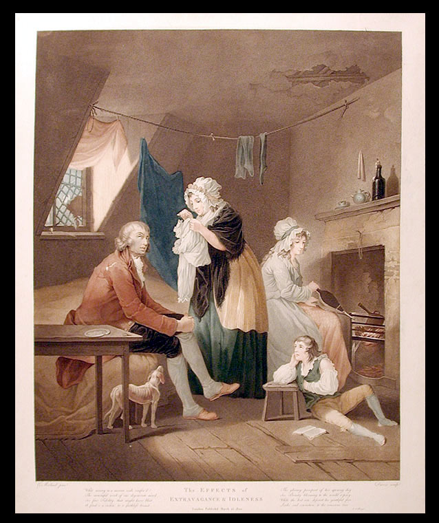 The Effects of Youthful Extravagance & Idleness; The Fruits of early Industry & Oeconomy. DARCIS after George MORLAND.