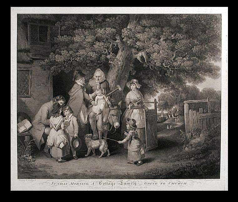 Sunday morning A Cottage Family going to church. After William Redmore BIGG.