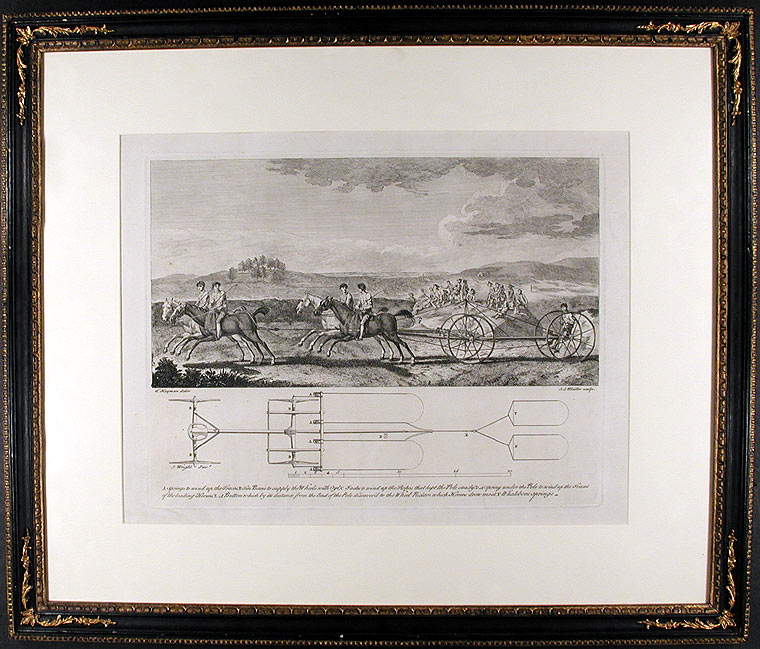 [The Chaise or Carriage Match at Newmarket Heath, August 29th, 1750]. After Francis HAYMAN.