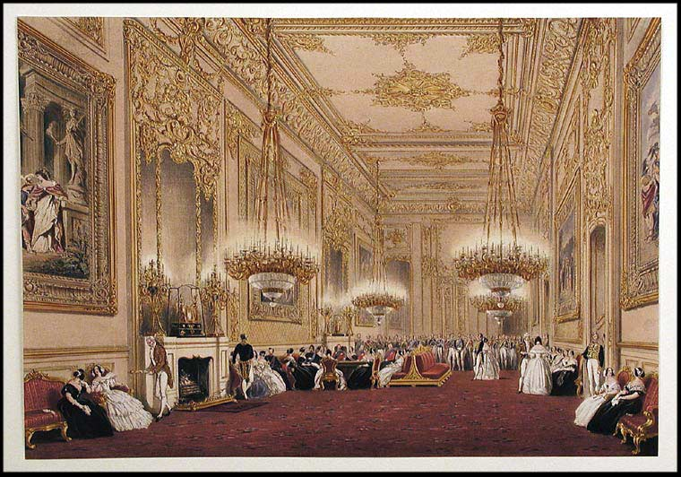 [The State Reception Room. An Evening Party, Windsor Castle. After Joseph NASH.