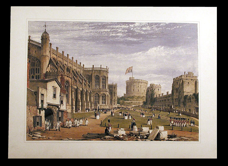 [Castle and Terrace Garden, Windsor Castle. After Joseph NASH.