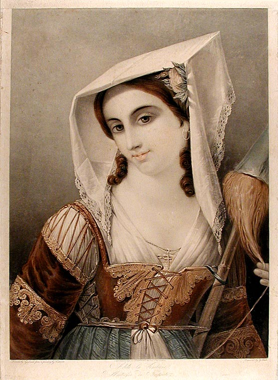 Adéle la Venitiene, Maitresse du Tintoreto. After Innocent Louis GOUBAUD.