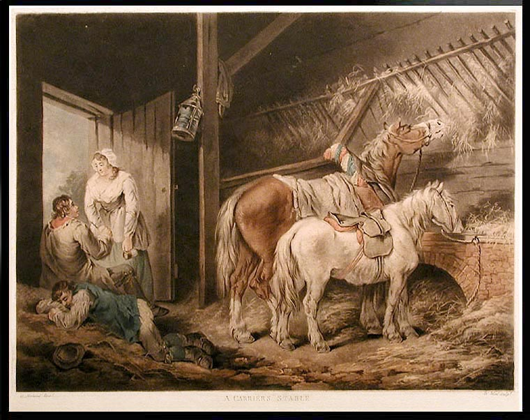 A Carriers Stable. William after George MORLAND WARD.