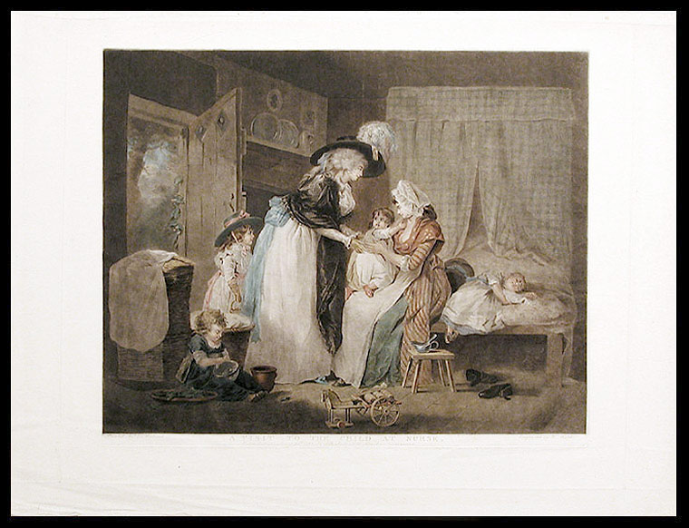 A Visit to the Child at Nurse. William after George MORLAND WARD, 1766- 1826.