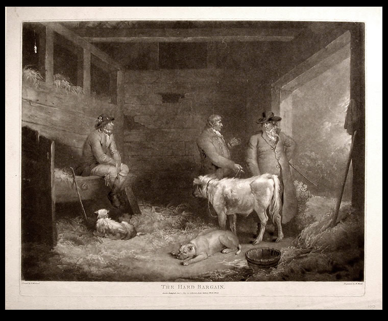 The Hard Bargain. William after George MORLAND WARD.