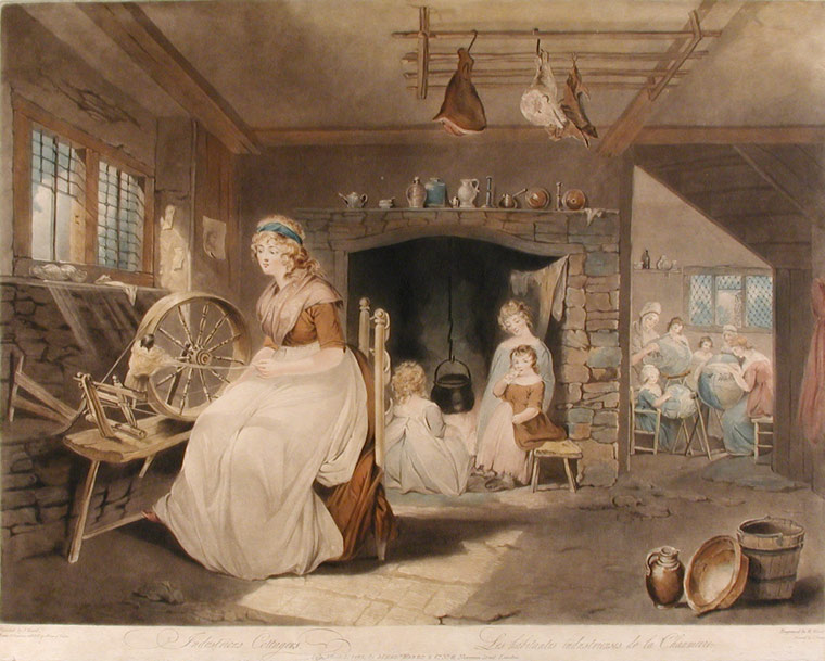 Industrious Cottagers, Les habitants industrieuses de la Chaumiere. William after James WARD WARD.