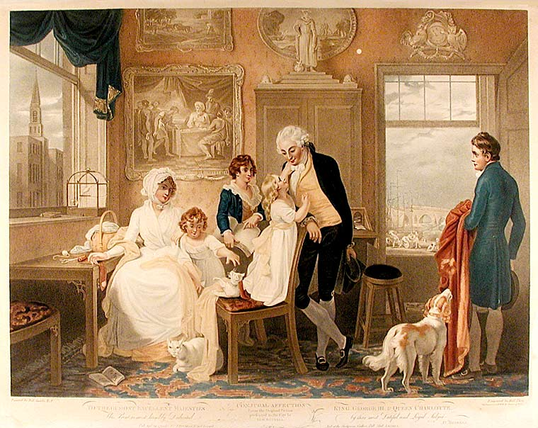 Conjugal Affection From the Original Picture presented to the City by Aldn. Boydell. To their most excellent Majesties King George III, & Queen Charlotte. This Print is most humbly Dedicated by their most Dutiful and Loyal Subject Jno. [sic.] Boydell. After Robert SMIRKE.